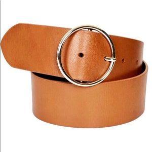 LOFT Ann Taylor • Wide Cognac Leather Belt